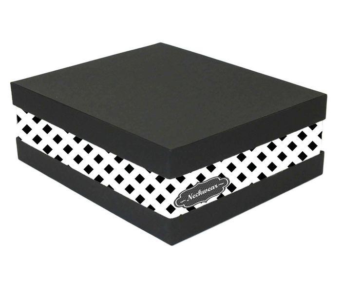 Caixa Organizadora de Gravatas Eve Squares Branca - 25X11X30cm | Westwing.com.br