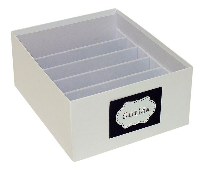 Caixa Organizadora para Sutiãs Tag Nola Branca - 30X13X25cm   Westwing.com.br
