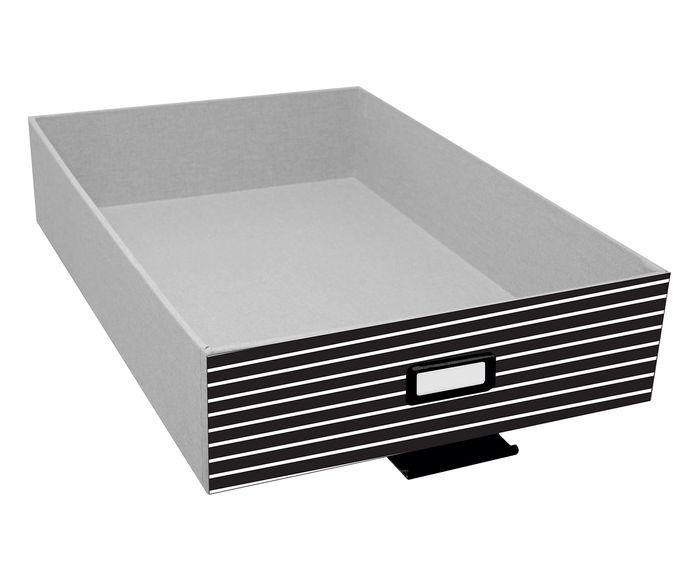 Caixa Organizadora Zebra Cinza e Preta - 39X12X30cm | Westwing.com.br