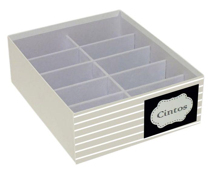 Caixa Organizadora para Cintos Especial Bege - 30X10X25cm   Westwing.com.br