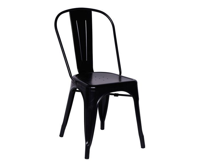 Cadeira Retrô Preta - 35,5X86X36cm | Westwing.com.br