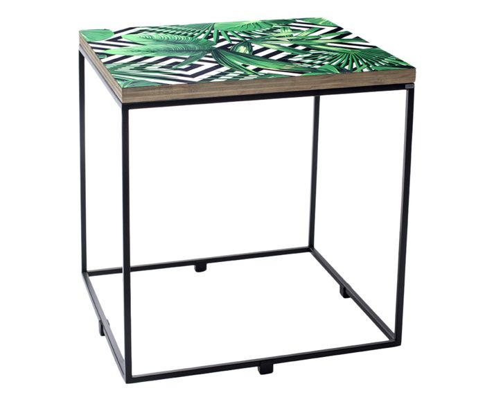 Mesa Lateral Ramona Tropical - 40X43X40cm | Westwing.com.br