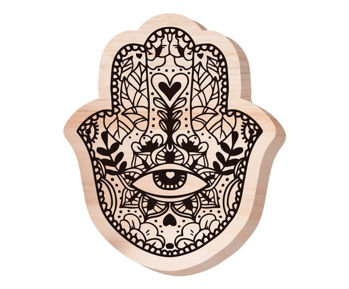Placa de Madeira Estampada Yoga - 20X20cm | Westwing.com.br