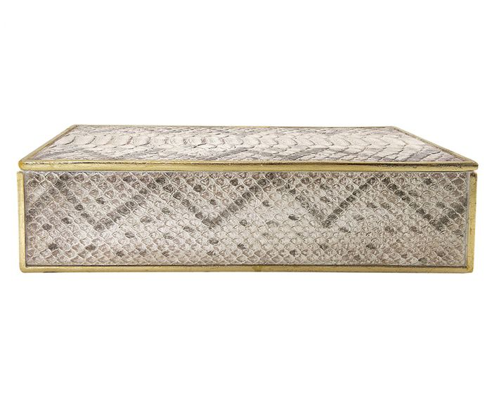 Caixa Decorativa Lana Cinza - 30X15X9cm | Westwing.com.br