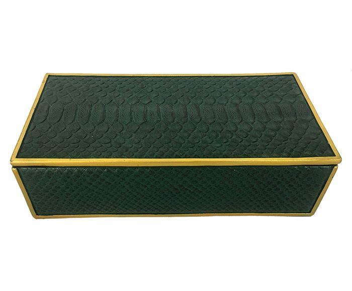 Caixa Decorativa Lana Verde - 30X9X15cm | Westwing.com.br