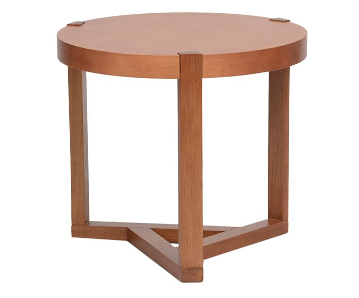 Mesa Lateral Geometric Natural - 50cm   Westwing.com.br