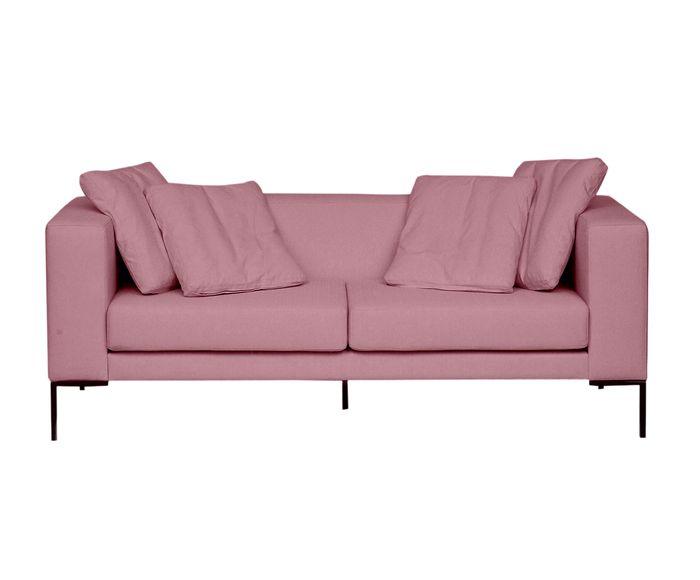 Sofá em Linho Pietro Rosa Vintage - 180X80X82cm   Westwing.com.br
