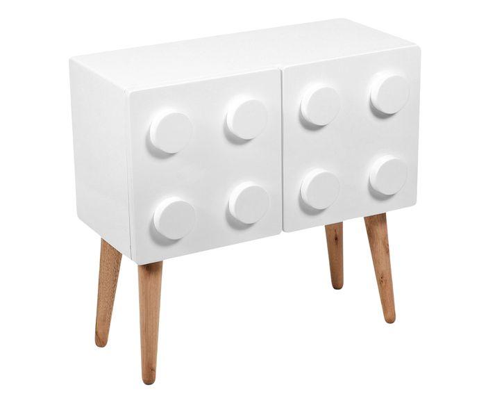 Mesa Lateral Lego Branca - 55X55X27cm   Westwing.com.br