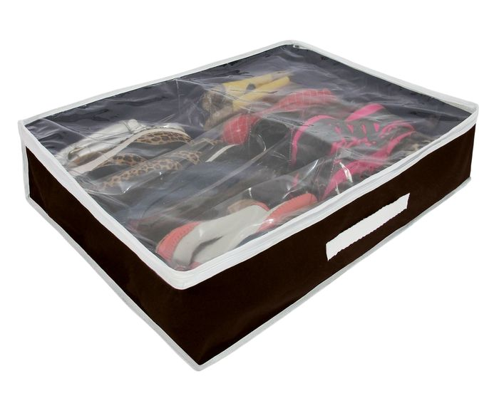 Organizador para Sapatos Slots Marrom - 47X15cm   Westwing.com.br