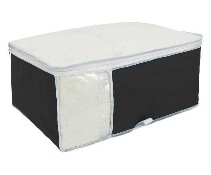 Organizador para Roupa de Cama Window Preto - 40X20X48cm | Westwing.com.br