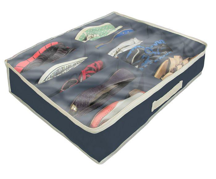 Organizador para Sapatos Slots Azul Marinho - 47X15cm   Westwing.com.br