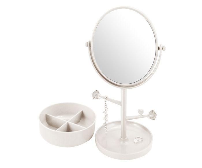 Espelho de Mesa com Suporte Gali Branco - 34,5X17cm | Westwing.com.br
