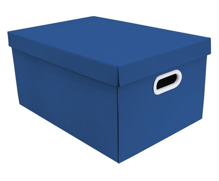Caixa Organizadora Stok Doors Azul Escuro - 45,5X31,5cm | Westwing.com.br