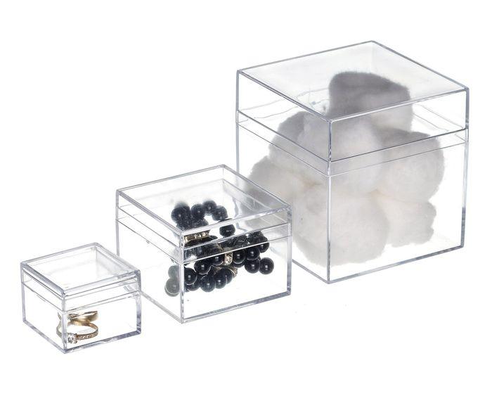 Jogo de Caixas Organizadoras para Banheiro Box - Transparente | Westwing.com.br