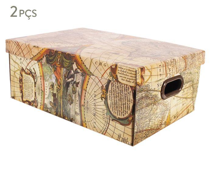 Jogo de Caixas Organizadoras Stok Doors Mundi - 31X20X42cm   Westwing.com.br
