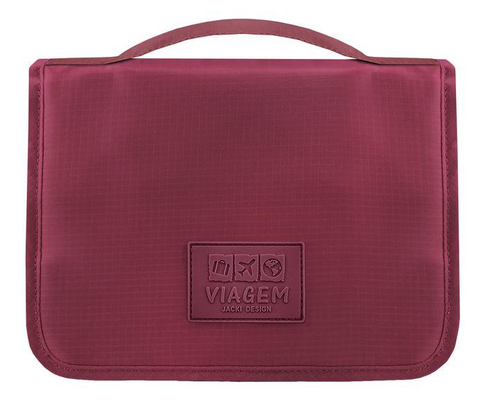 Nécessaire de Viagem com Gancho Eva Vinho - 24X18,5cm | Westwing.com.br