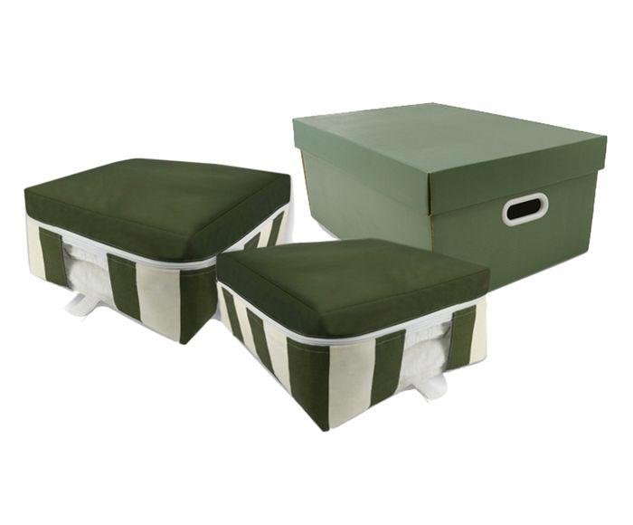 Jogo Organizador de Toalha Lis Bicolor Verde - 03 Peças   Westwing.com.br