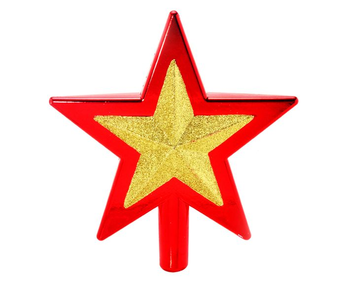 Ponteira para Árvore de Natal Estrela Prateada - 18,5X20cm | Westwing.com.br