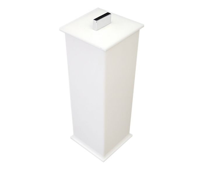 Porta-Escova Elegance Branco - 7X20X7cm | Westwing.com.br