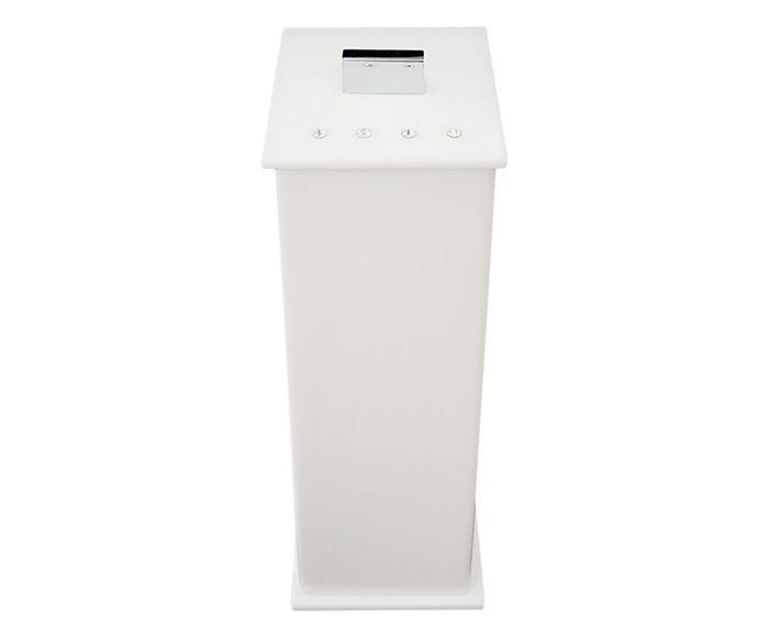 Porta-Escova Elegance Shine Branco - 7X20X7cm | Westwing.com.br