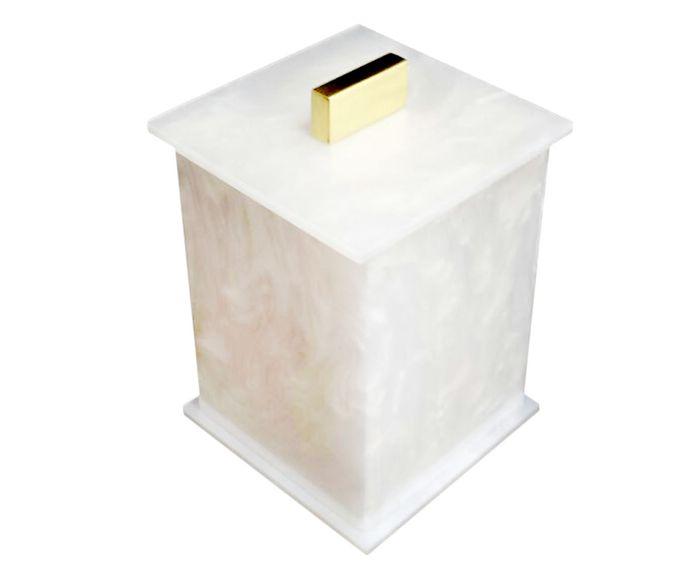 Pote Multiuso Elegance Pérola e Dourado - 7X10X7cm | Westwing.com.br