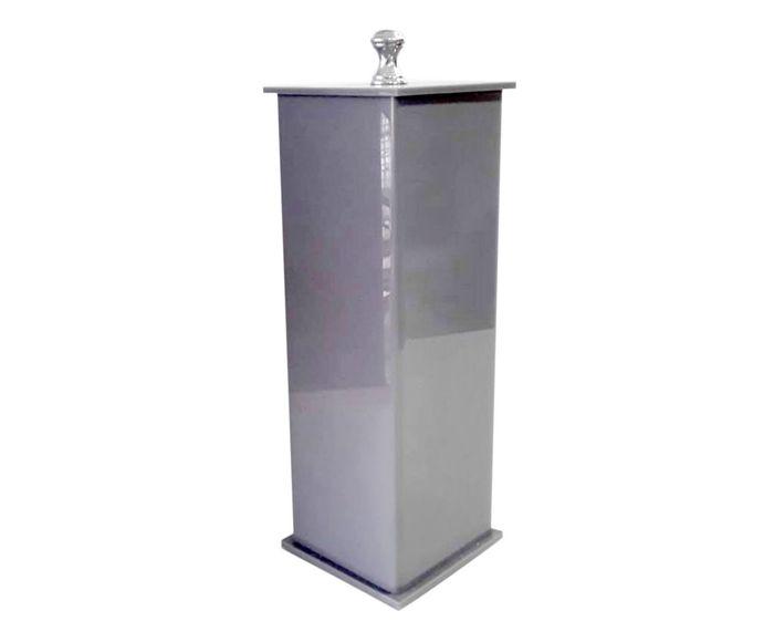 Porta-Escovas Essence Cinza - 7X7cm   Westwing.com.br