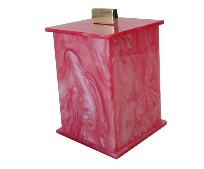 Pote Decorativo Elegance Rosa Gold - 7X7cm   Westwing.com.br