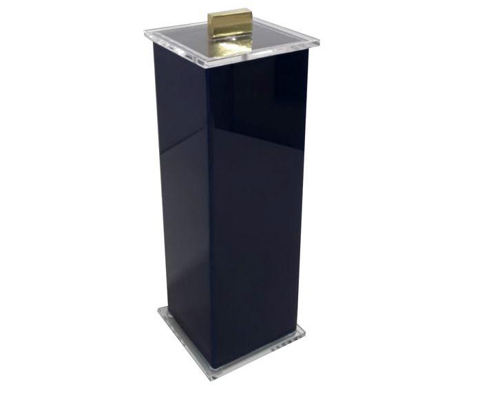 Porta-Escovas Elegance Charm Azul Gold - 7X7cm | Westwing.com.br