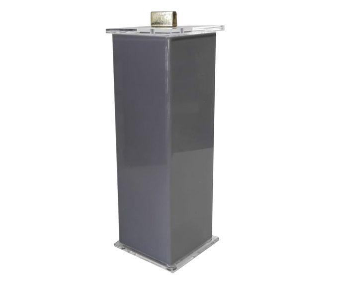 Porta-Escovas Elegance Charm Cinza Gold - 7X7cm | Westwing.com.br