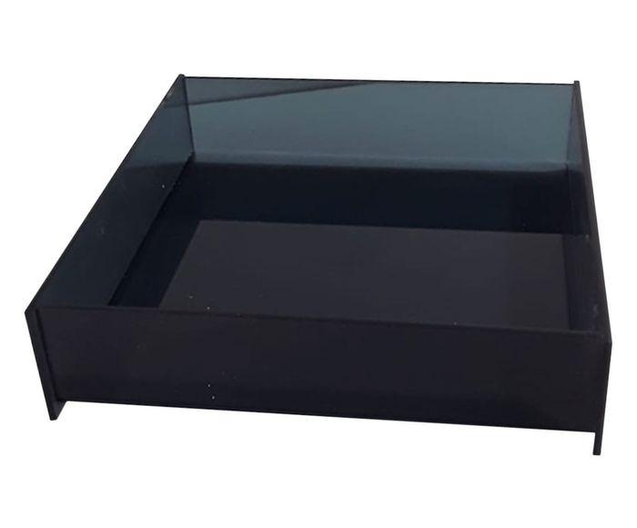 Bandeja Elegance Square Fumê - 17,5X17cm   Westwing.com.br