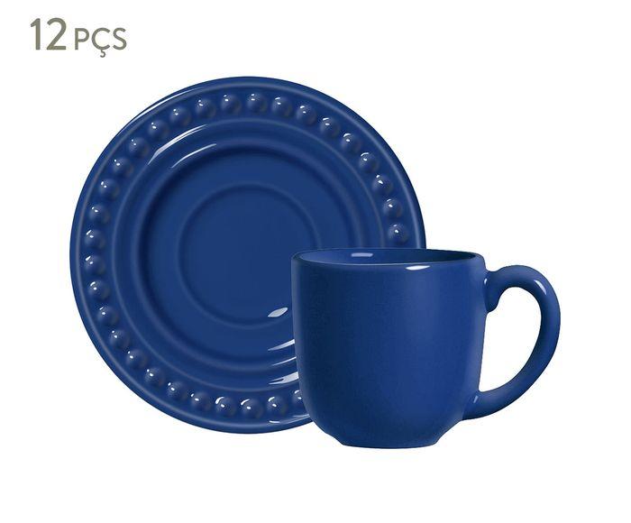 Jogo de Xícaras para Café com Pires Atenas Azul Navy - 75ml | Westwing.com.br