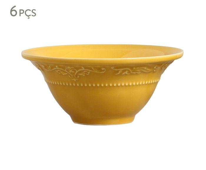 Jogo de Bowls Acanthus Mostarda - 450ml | Westwing.com.br