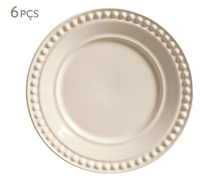 Jogo de Pratos para Sobremesa Atenas Cru - 20,5cm | Westwing.com.br