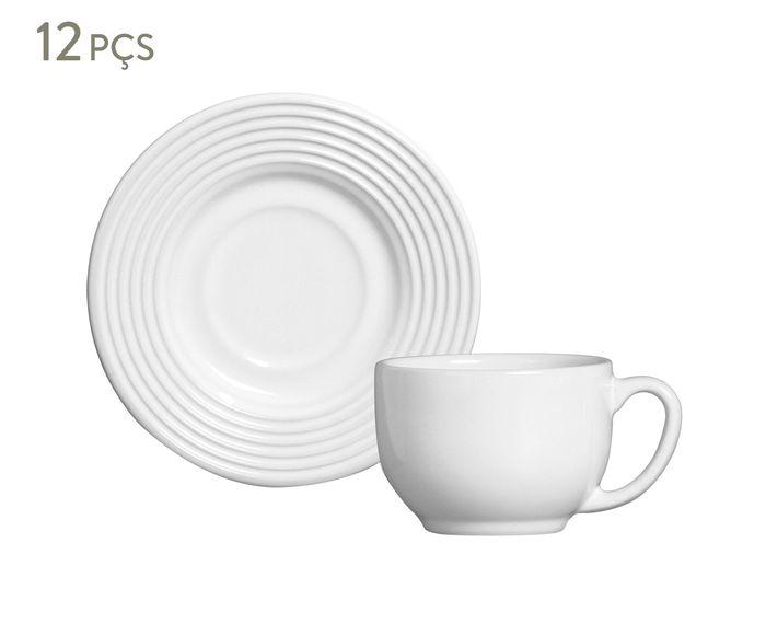 Jogo de Xícaras para Chá com Pires Argos Branco - 160ml   Westwing.com.br