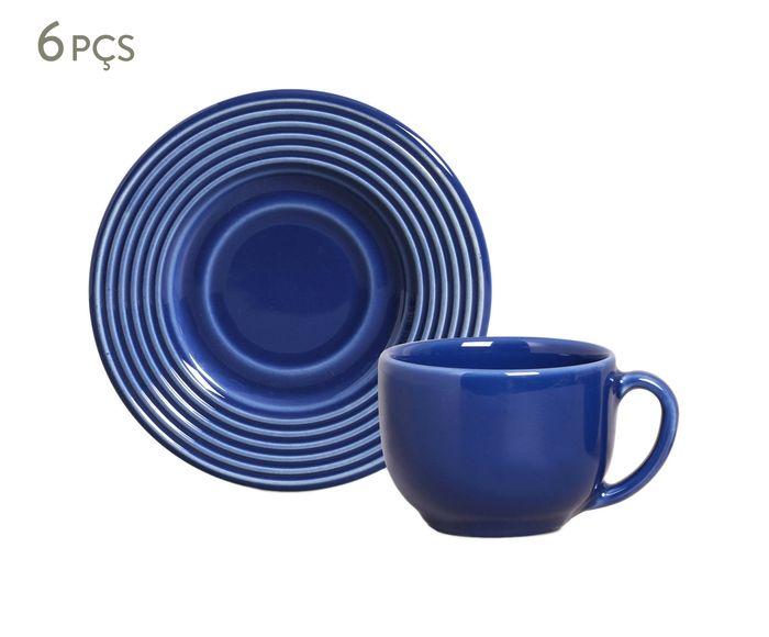 Jogo de Xícaras para Chá com Pires Argos Azul Navy - 161ml | Westwing.com.br