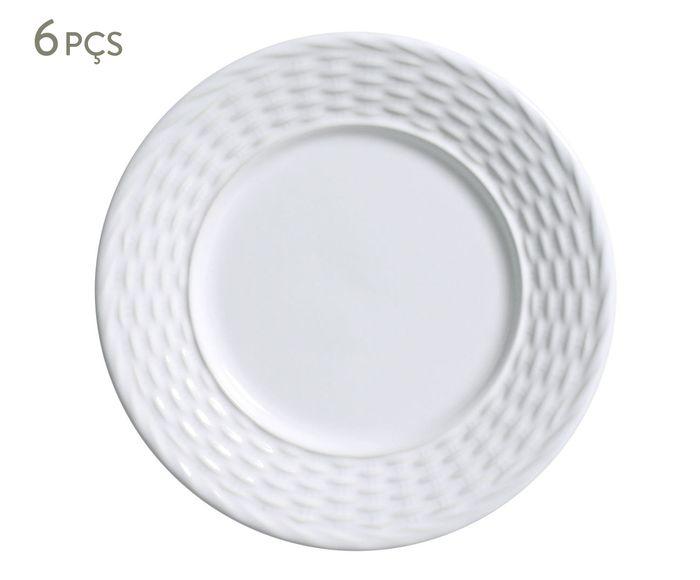 Jogo de Pratos para Sobremesa Bali Branco - 20,5cm | Westwing.com.br