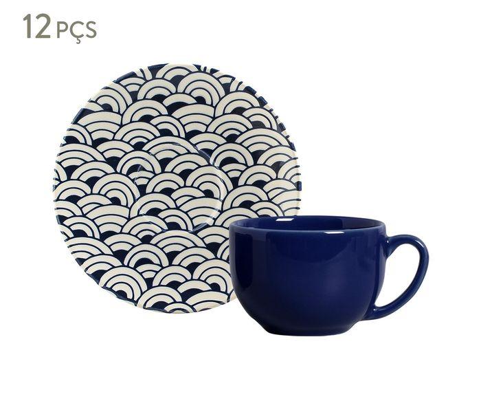 Jogo de Xícaras para Chá com Pires Coup Al Mare - 260ml   Westwing.com.br
