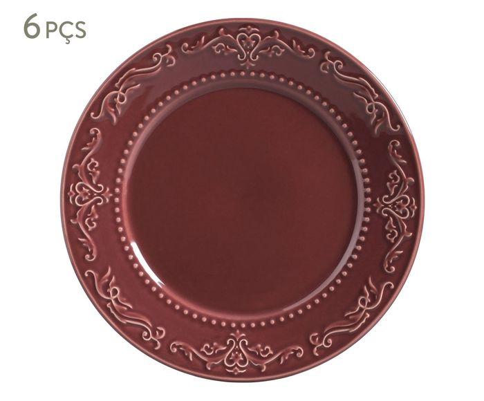 Jogo de Pratos Rasos Achanthus Cassis - 26cm | Westwing.com.br