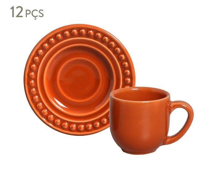 Jogo de Xícaras para Café com Pires Atenas Cantaloupe - 72ml | Westwing.com.br