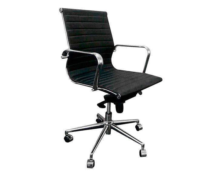Cadeira Giratória Office Eames Esteirinha Preta - 61X105cm   Westwing.com.br