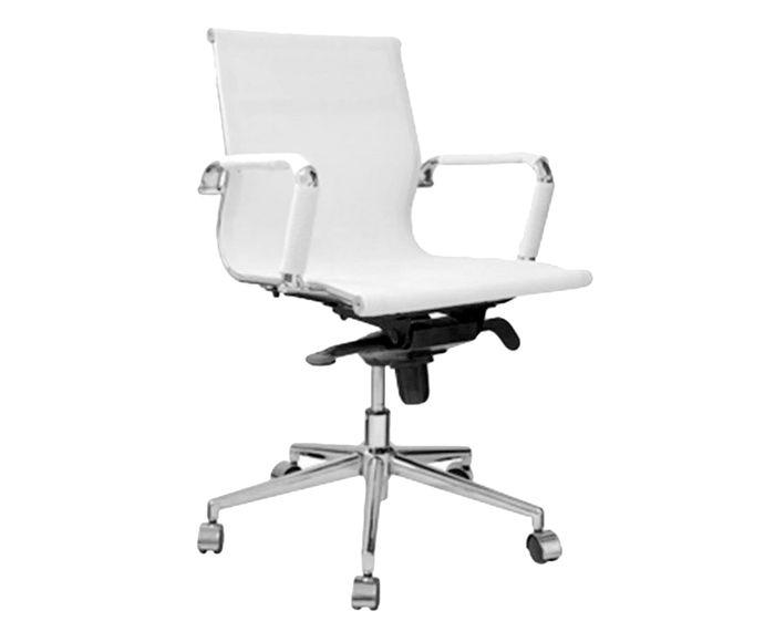 Cadeira Giratória com Rodízios Office Eames Tela Branca - 54X101X45cm   Westwing.com.br