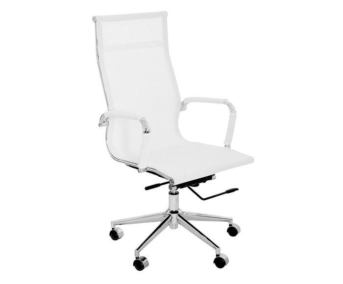 Cadeira com Rodízios Alta Office Eames Tela Branca - 54X101X45cm | Westwing.com.br