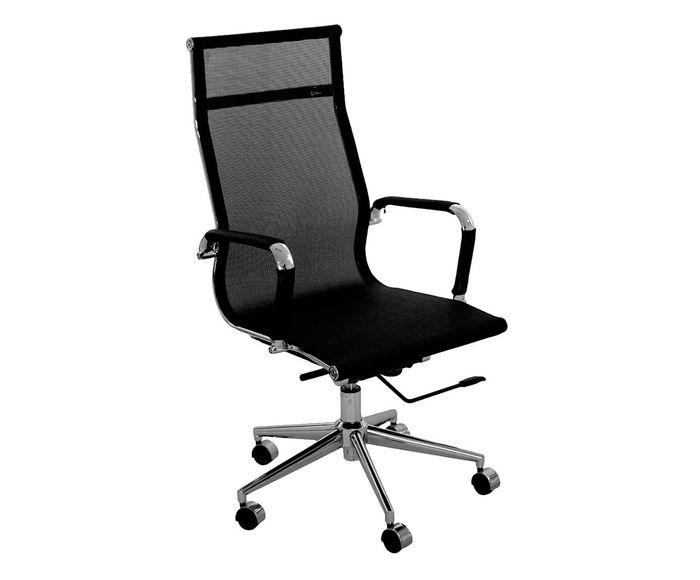 Cadeira Giratória com Rodízios Alta Office Eames Tela Preta - 54X101X45cm   Westwing.com.br