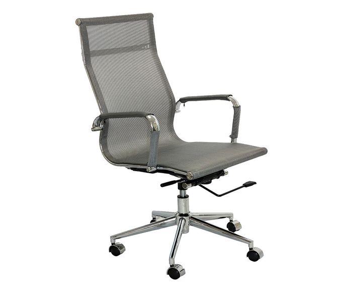 Cadeira com Rodízios Alta Office Screen Tela Cinza - 47,5X104,5X61cm   Westwing.com.br
