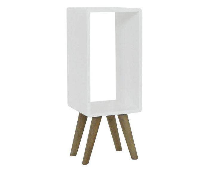 Mesa de Cabeceira Retrô Mizza Branca - 27X70X27cm | Westwing.com.br