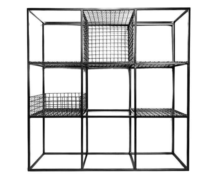 Estante Ninee Grid Preta - 120X120X36cm | Westwing.com.br