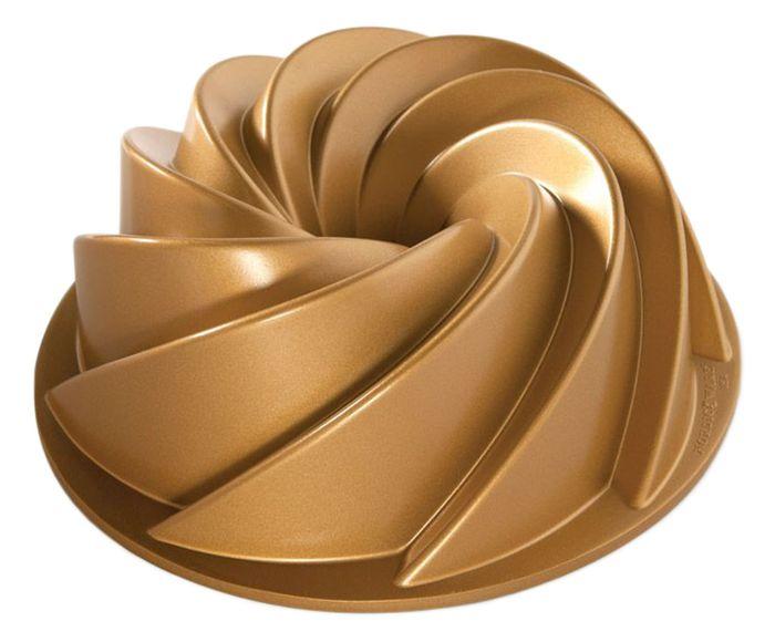 Forma para Bolo Waves Dourada - 9,5X25cm | Westwing.com.br