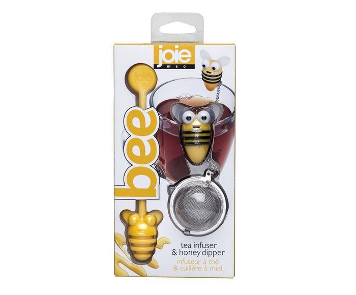 Infusor para Chá e Colher para Mel em Inox Beer - 9,5X20,5X4cm   Westwing.com.br