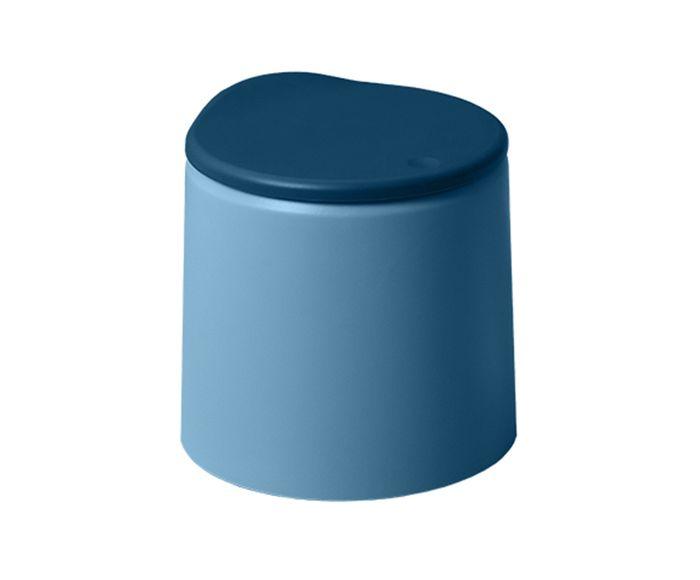 Lixeira Dévoué Azul - 15X15cm   Westwing.com.br