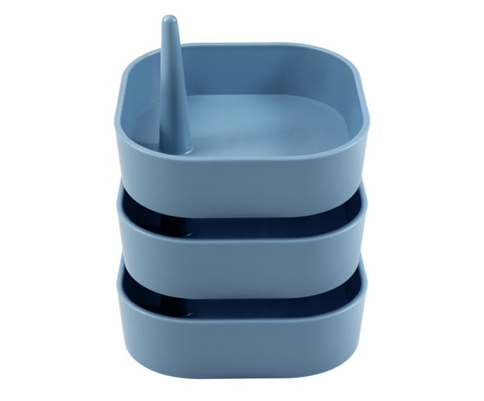 Jogo de Porta-Objetos Akcaabat Azul - 10,5X13,5cm | Westwing.com.br